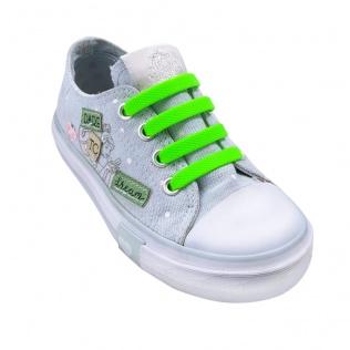 Sznurowadła silikonowe dla dzieci zielone