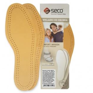 SECO Wkładki do butów slim ze skóry owczej r. 41